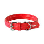 Rogz Rogz Leather Pin Buckle Collar Red
