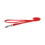Rogz Rogz Leather Round Fixed Lead Red