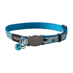 Rogz Rogz Reflectocat Collar Blue Fish