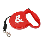 Rufus and Coco Rufus And Coco Retractable Dog Lead Red