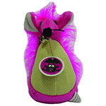 Scream Scream Cat Toy Fatty Mouse Pink