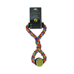 Scream Scream Hand Tug Rope With Tennis Ball
