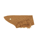Sebastian Says Sebastian Says Dog Sweater Merino Wool Fringe Knit Toffee