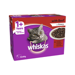 Whiskas Whiskas Wet Cat Food Adult Beef Gravy
