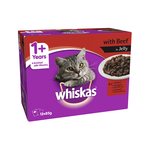 Whiskas Whiskas Wet Cat Food Adult Beef Jelly