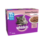 Whiskas Whiskas Wet Cat Food Senior 11 Plus Salmon Sauce