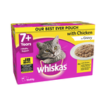 Whiskas Whiskas Wet Cat Food Senior 7 Plus Chicken Gravy