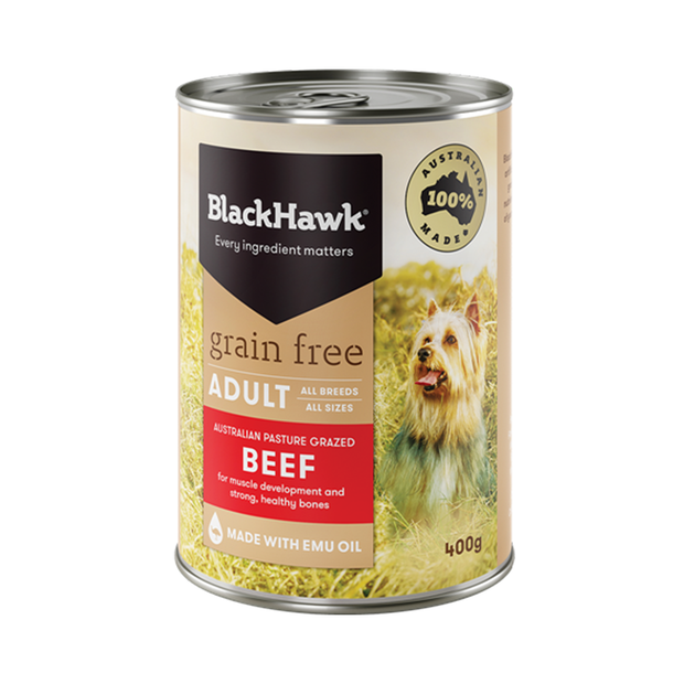 Black Hawk Grain Free Beef Adult Canned 12 X 400g