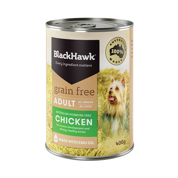 Black Hawk Grain Free Chicken Adult Canned 12 X 400g