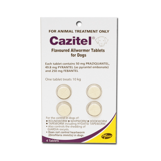 Cazitel Flavoured Allwormer Tablets For Dogs