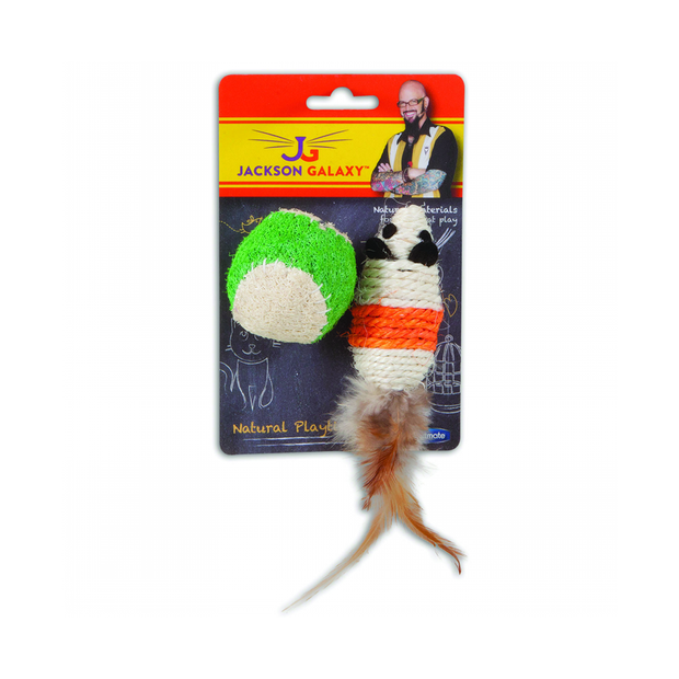 Jackson galaxy rope mouse with ball pet circle for Jackson galaxy cat toys