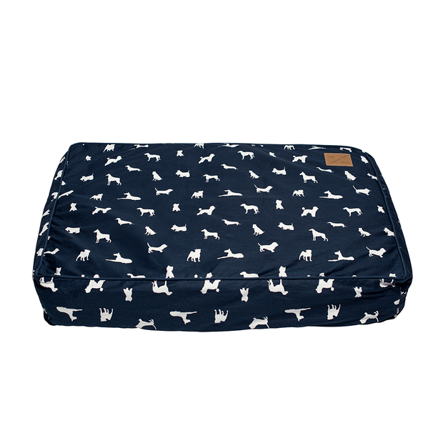 Mog And Bone Classic Cushion Blue Dog