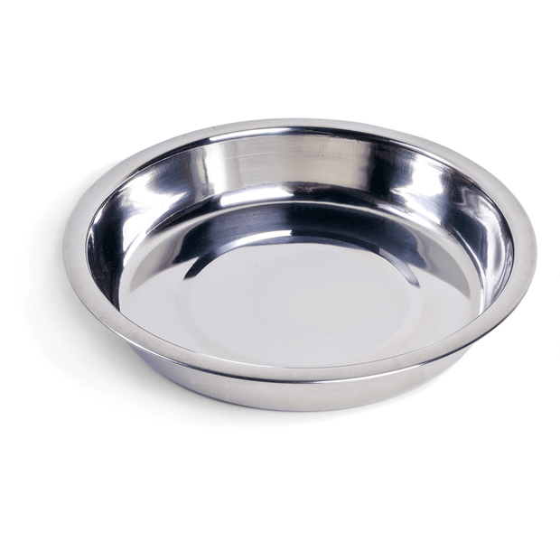 Petface Bowl Stainless Steel Shallow Dish