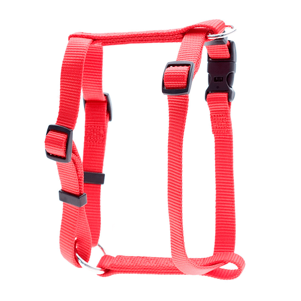 Petlife Nylon Adjustable Harness Red X Large