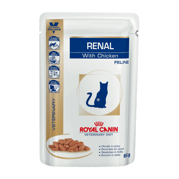 royal canin veterinary diet feline renal chicken pouches. Black Bedroom Furniture Sets. Home Design Ideas