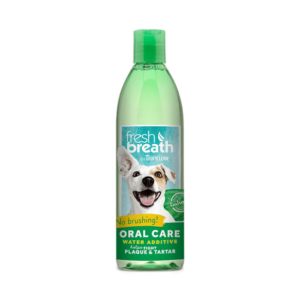 Tropiclean oral care water additive pet circle for Dog dental water additive