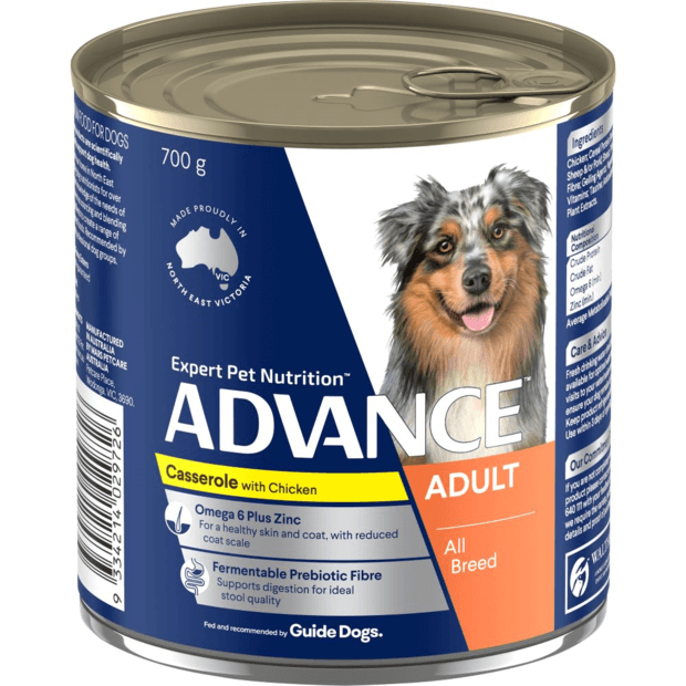 Advance Adult Casserole With Chicken Wet Dog Food Cans