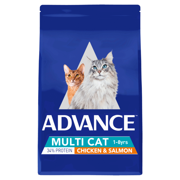 Advance Adult Dry Multi Cat Food Chicken And Salmon