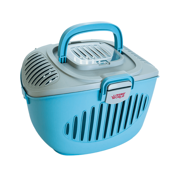 living-world-paws-2-go-small-pet-carrier-blue-and-grey