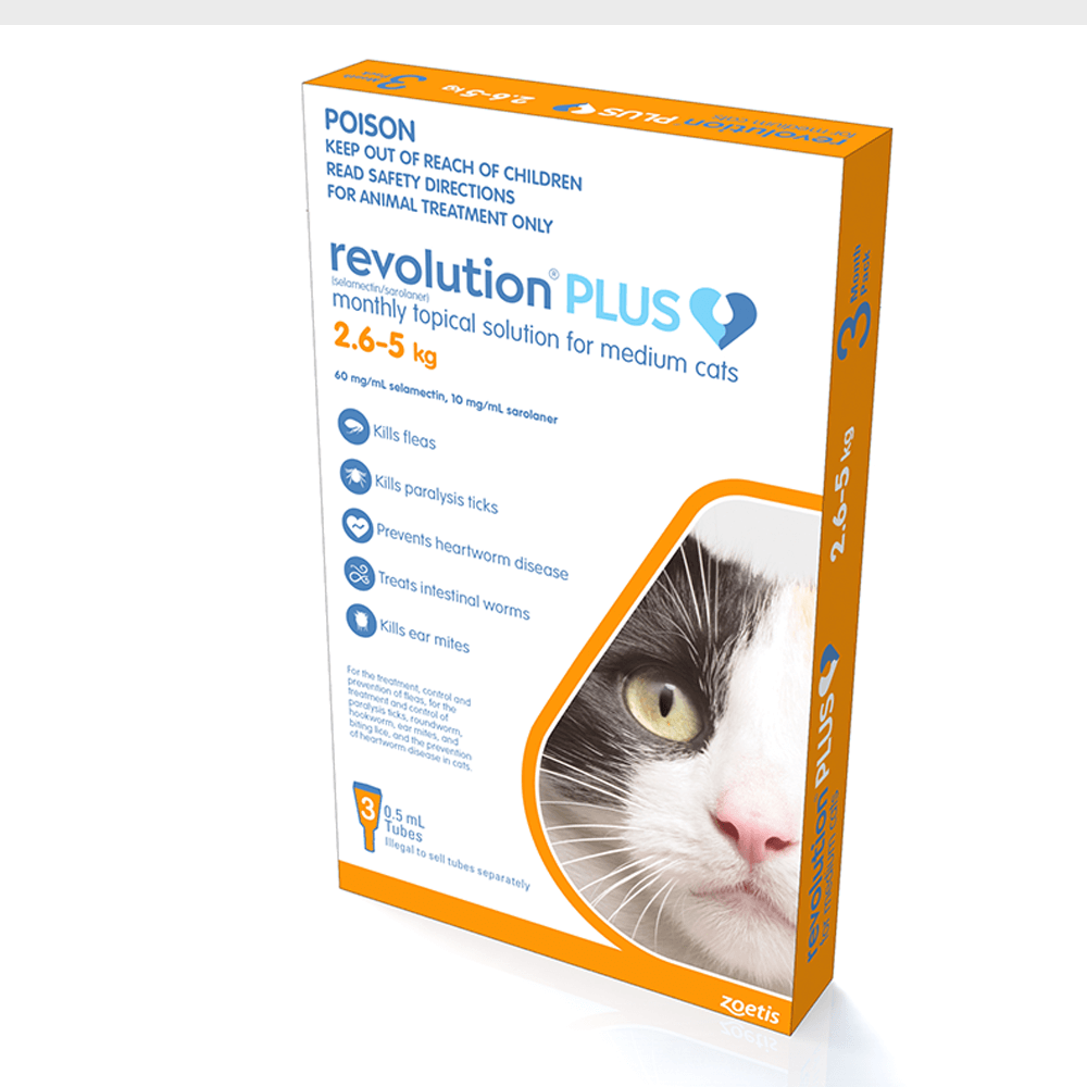 Buy Revolution Plus Orange Medium Cat Online Low Prices Free Shipping